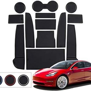 YEE PIN Tesla Model 3 Cup Holder Liner and Door St
